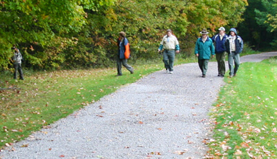 People Walking on Chickagami Park Trails