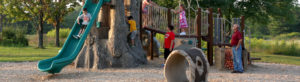 Kids on Playground in Geauga Park