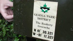 Geauga Park District The Rookery Geocache Box