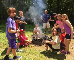 Kids Roasting Marshmallows at Picnic in Geauga Park