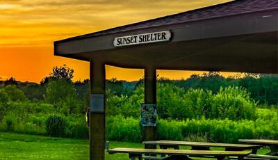 Sunset Shelter in WC Best Wildlife Preserve