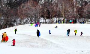 Sledders in Geauga County Parks